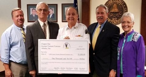 Georgia Vietnam Veterans Alliance Donates to Cobb Veterans Memorial Foundation