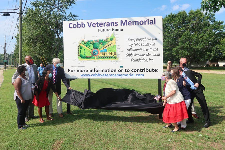 Cobb Veterans Memorial Sign Unveiling